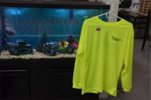 Harbortown's shirts are 100% moisture wicking mesh polyester with UPF 40+ sun protection - MADE IN THE USA!