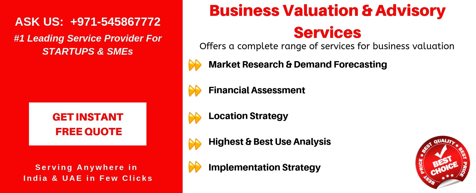 business valuation advisory services in uae