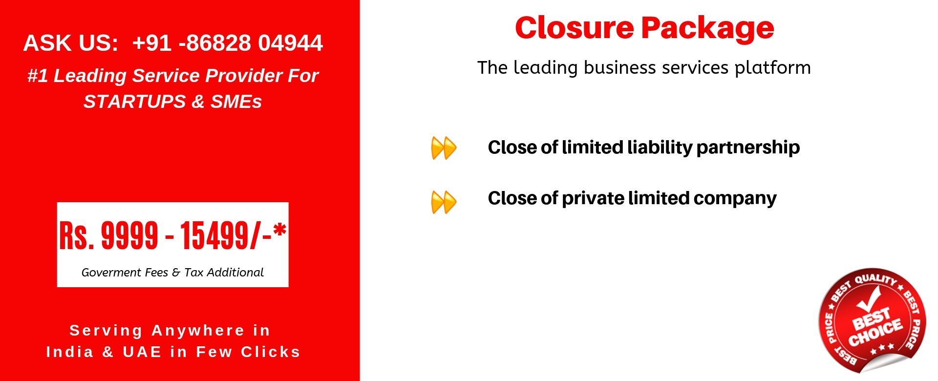 closure package india