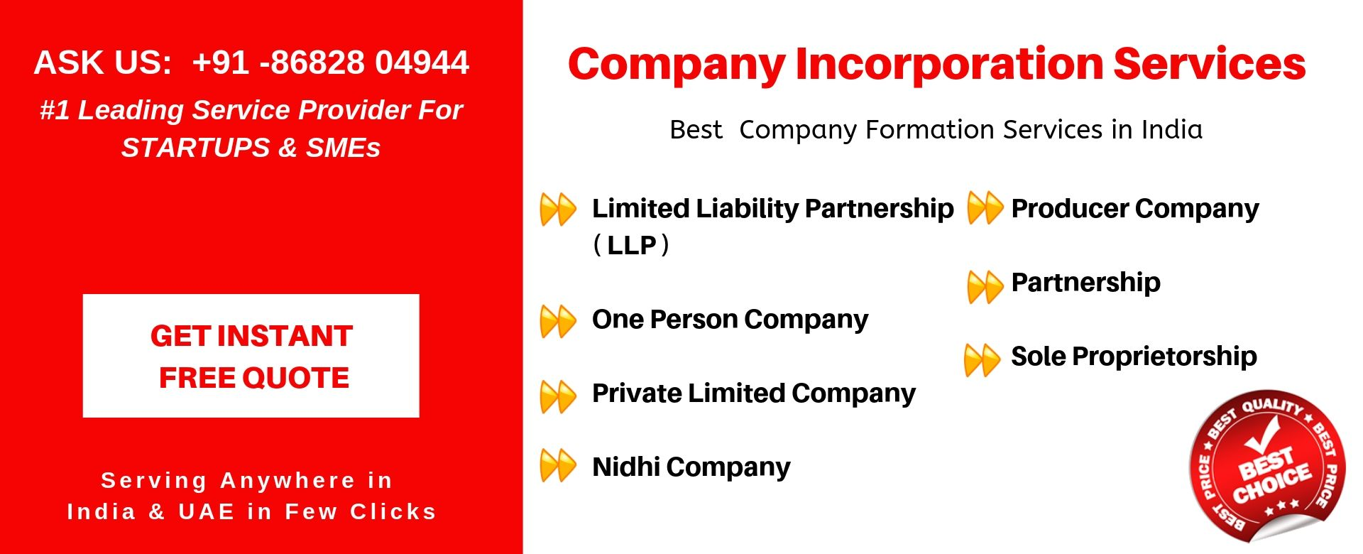 company incorporation services india