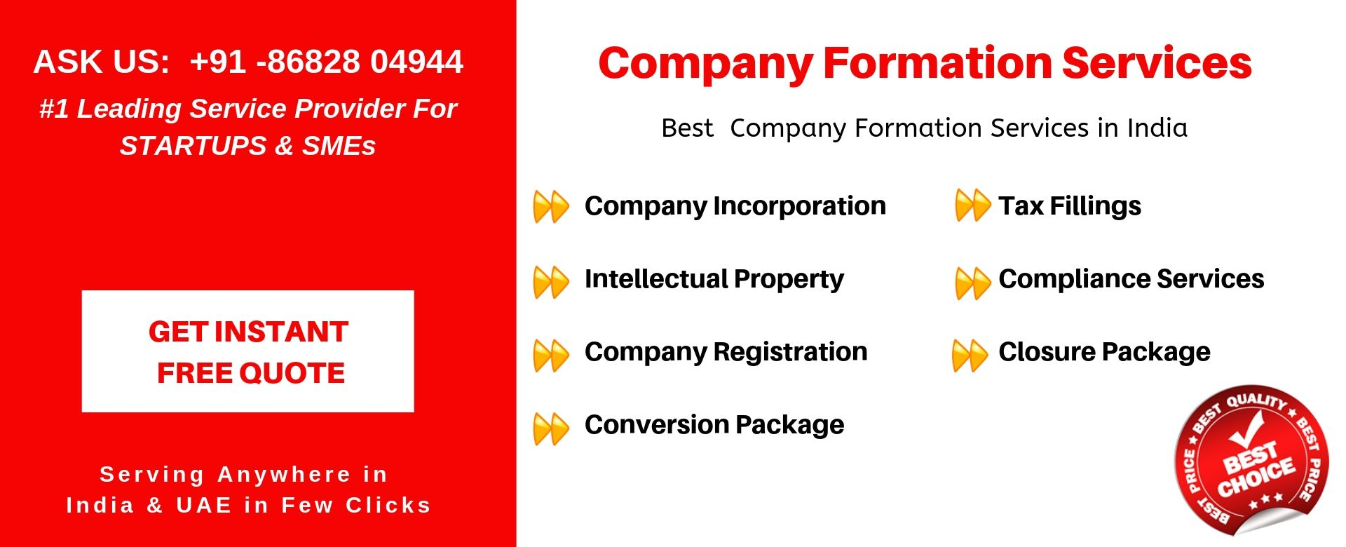 company services in india