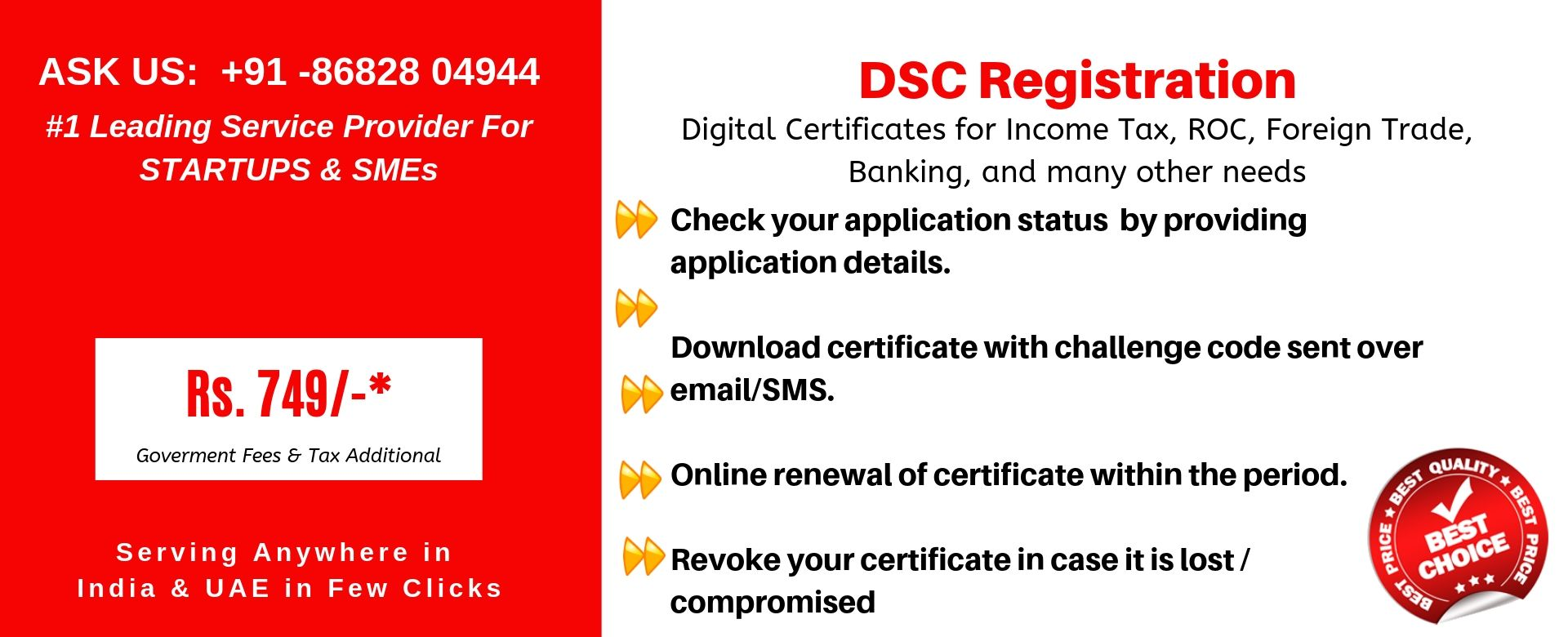 dsc registration in india