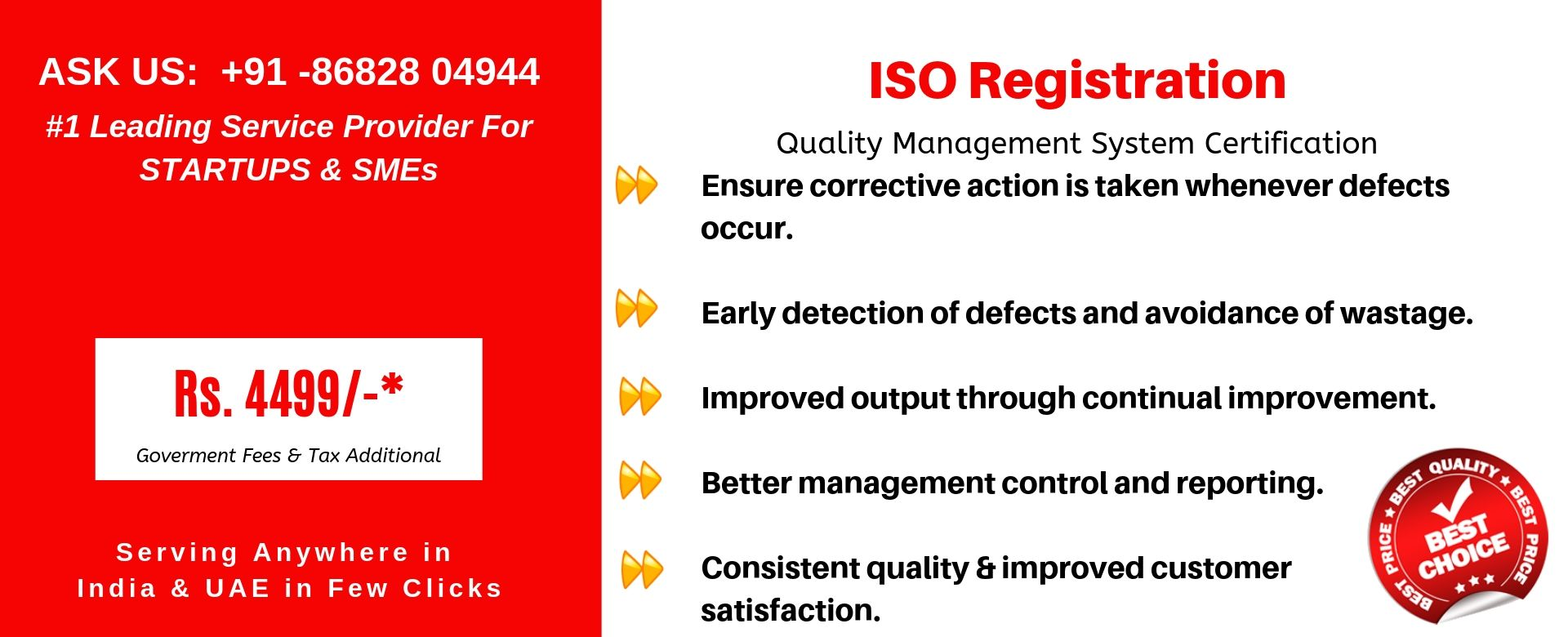 iso registration in india