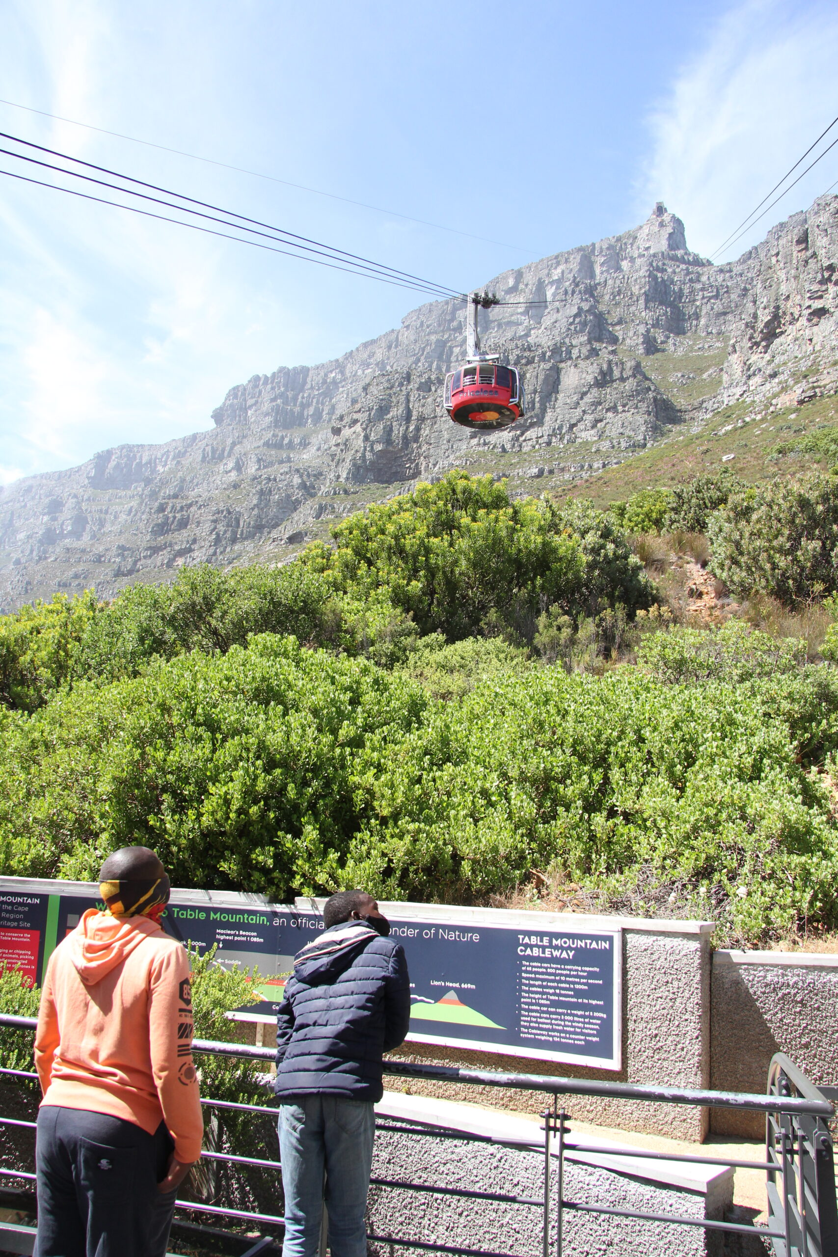 Youth Outing up Table Mountain