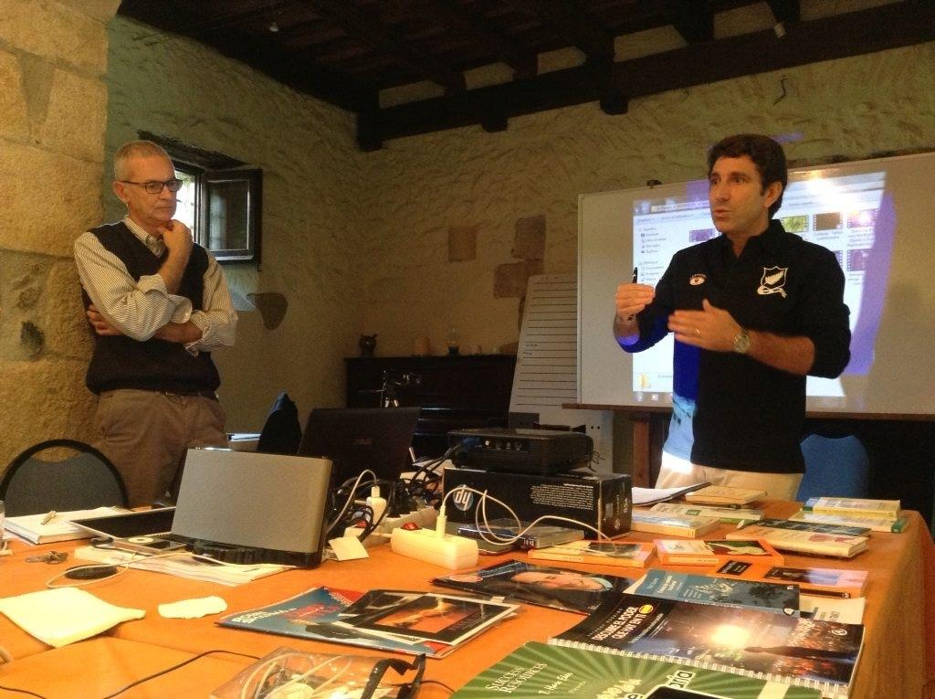 pnl con Nello y Bruno en Mas Gerrer (Gualba)