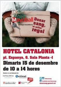 cartel nadal donacion sangre barcelona 15122016