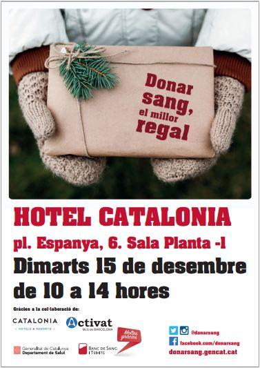 cartel nadal donacion sangre. completo