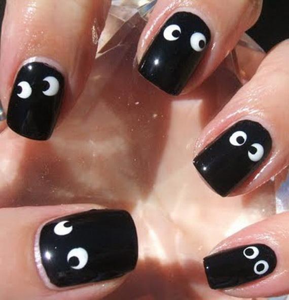 googly eye nail art