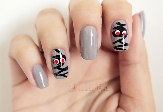 spooky nail art