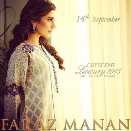 Eid Ul Azha Silk Chiffon Dresses By Crescent 2015-16