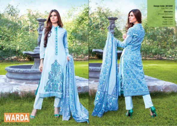 Kurti Trouser Dress By Warda For Eid Ul Azha 2015-16