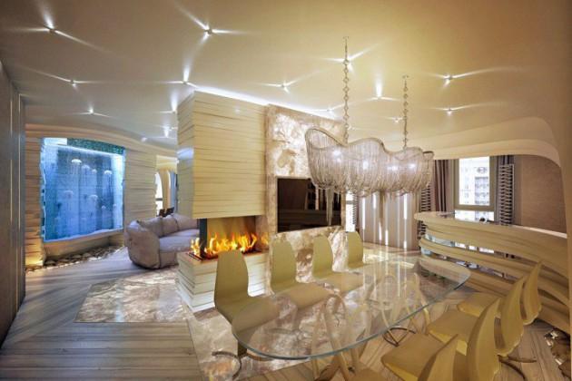 luxury style dining room