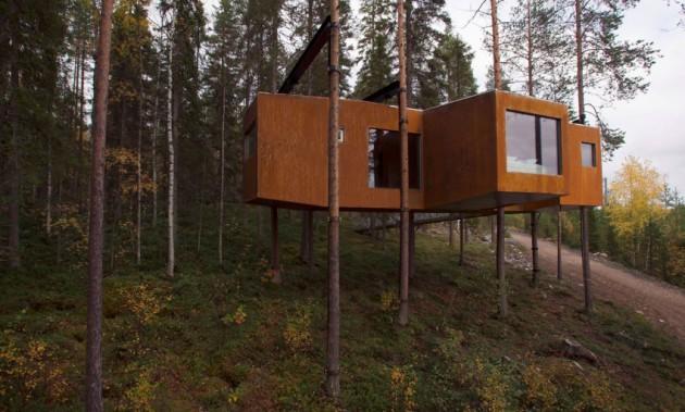 tree house hotel in sweden