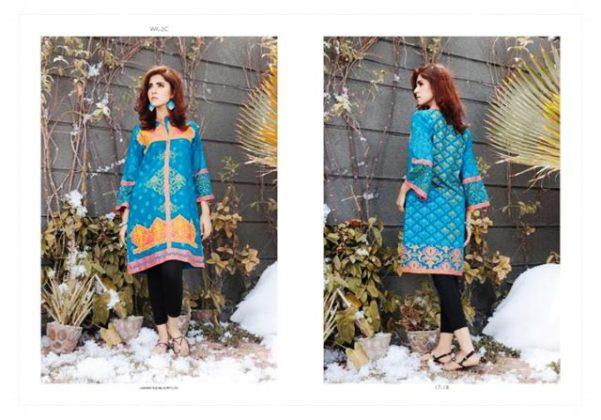 Winter Pret Kurtis For Girls By LSM Fabrics 2015-16