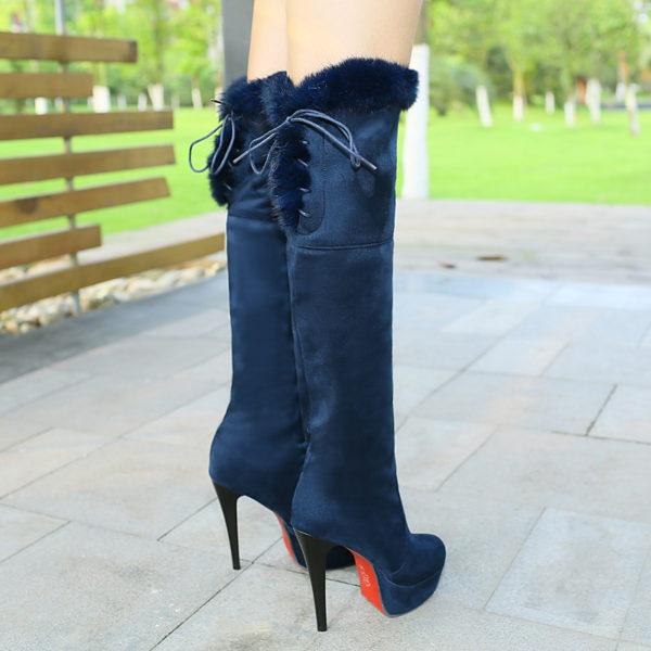 heel knee boots