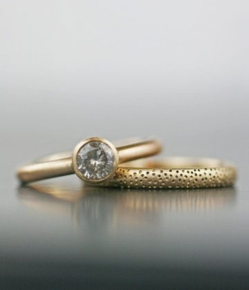 engagement ring in brown