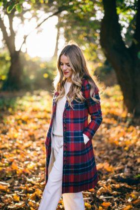 Plaid Coat Designs For This Winter