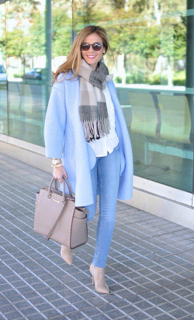 Blue winter coat