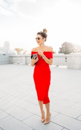 Red dress for christmas