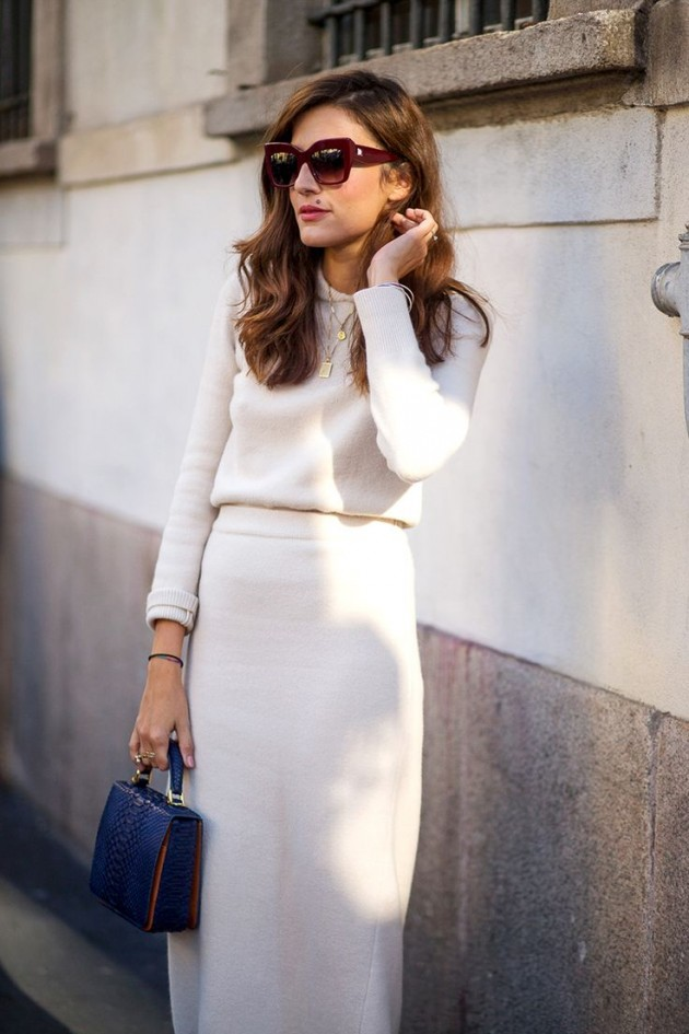 white stylish outfit