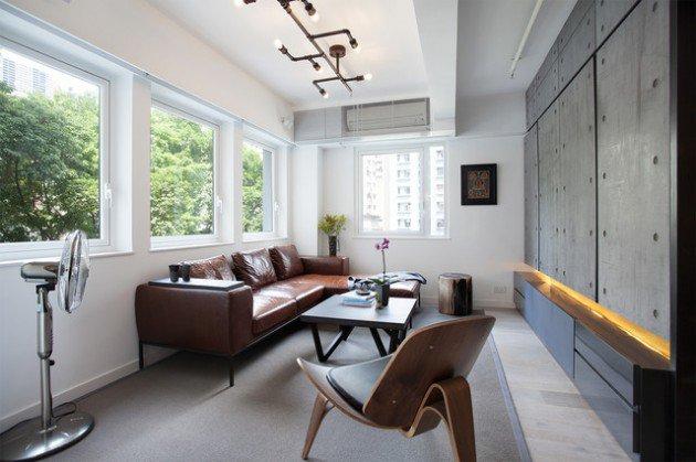 Living Room Interior Industrial Home Designs 2016