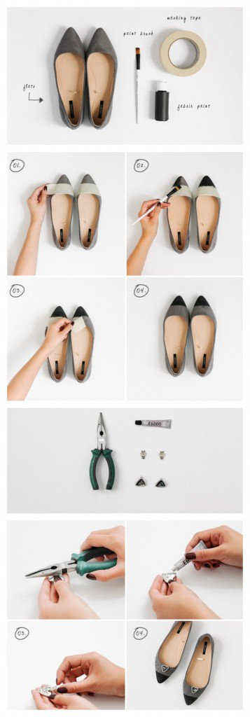 DIY Flat Shoes