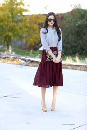 Pleated Skirts Trend