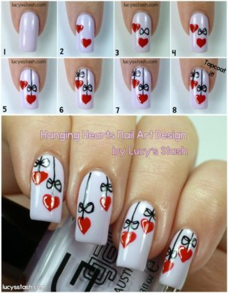 Valentine Nail Designs With Step By Step Tutorials