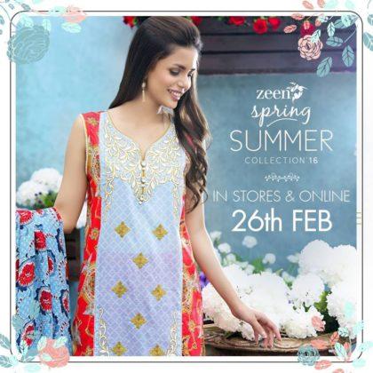 Zeen Summer Lawn Shalwar Kameez Dresses 2016