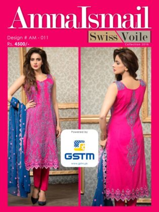 Swiss Voile Summer Dresses Amna Ismail Collection 2016