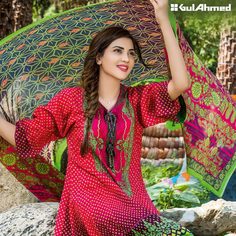 Bandhani summer casual lawn dresses