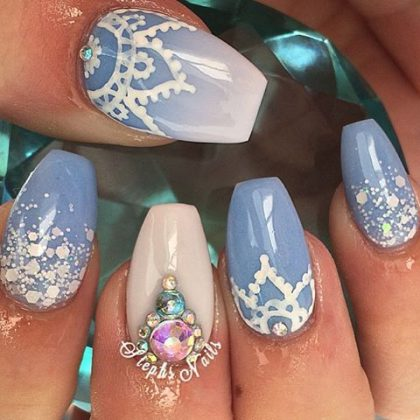 ocean inspired nail designs for summer season