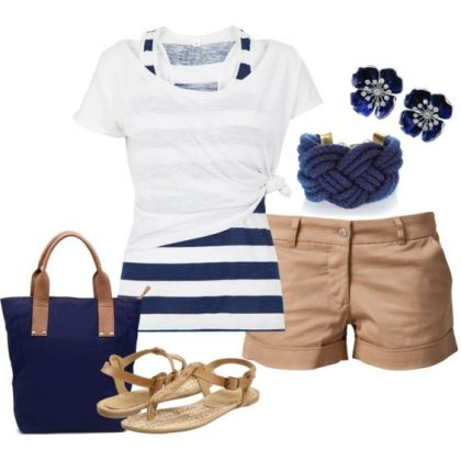 Nautical Pattern Polyvore Dresses For This Summer