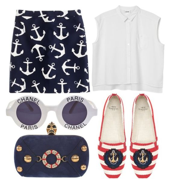 Nautical pattern Polyvore Dresses