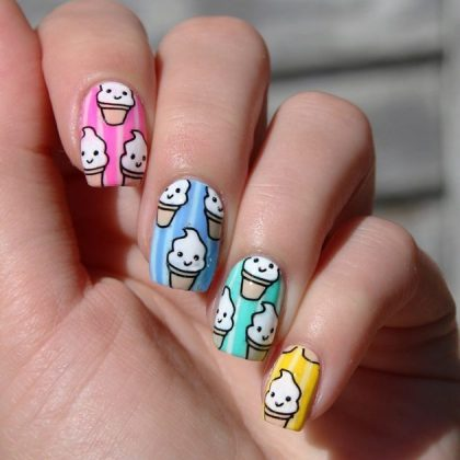 Ice Cream Nail Art Designs For This Season Styling