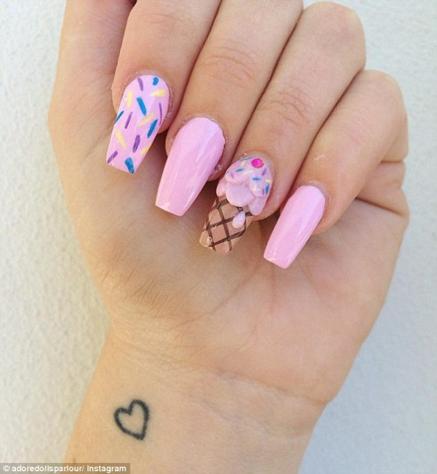 Ice Cream Nail Art Designs For This Season Styling 5