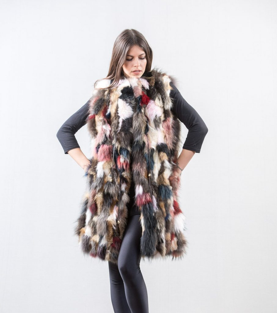 Cropped fur coat