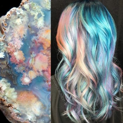 Geode Hair Trend Latest Style For This Season 2017