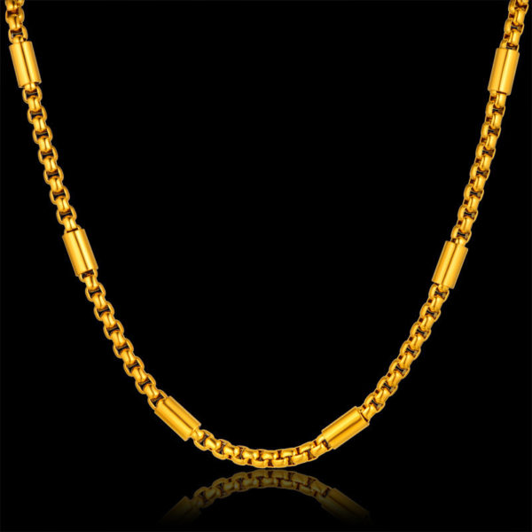 18K Long Gold Chains Of Different Styles & Designs