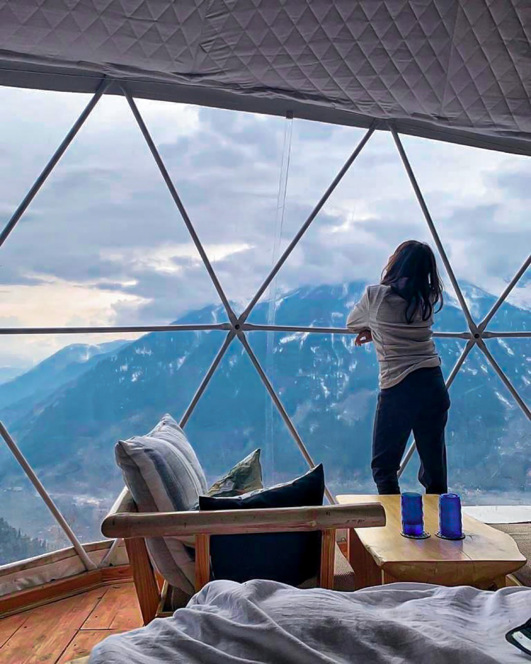 GlampEco Geodesic Dome Winter View