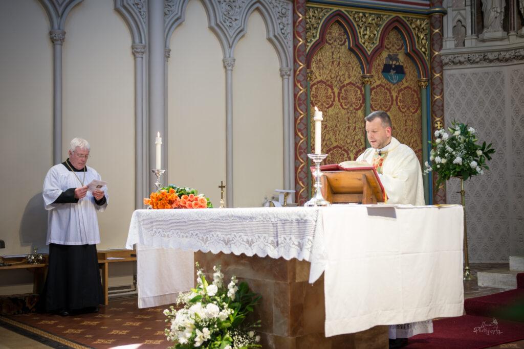 DJ photo and Fr Marcin Mass