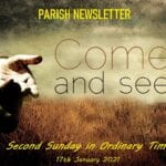Newsletter: 17th January 2021 - 2nd Sunday in Ordinary Time B