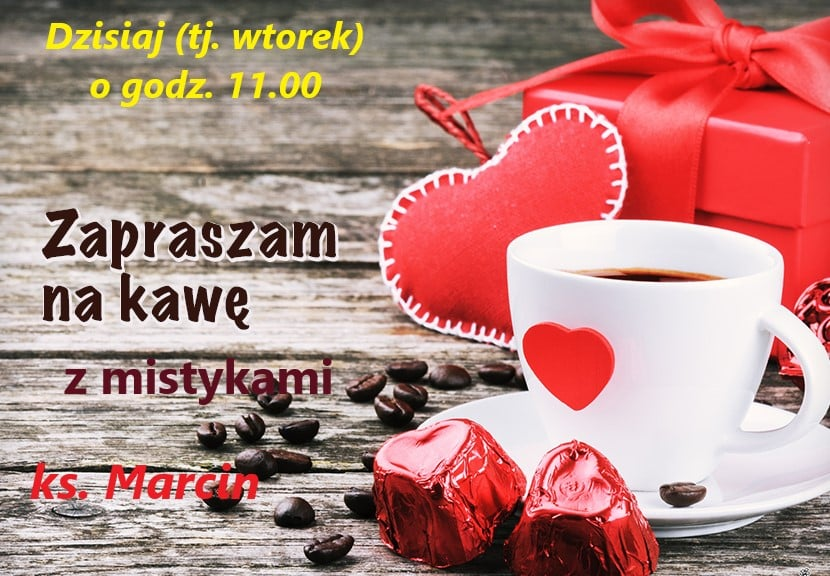 Facebook Only – 'PORANNA KAWA Z MISTYKAMI' for our Polish Community with Father Marcin