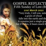 Newsletter: 21st March 2021 - 5th Sunday of Lent Year B
