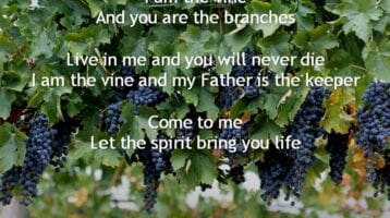 Hymn for Today:  I am the Vine with Lyrics 29-04-2018