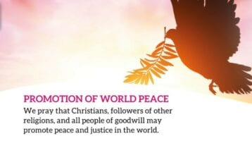 For the Holy Father and all Catholic Christians, each new calendar year begins with a heartfelt plea for peace.