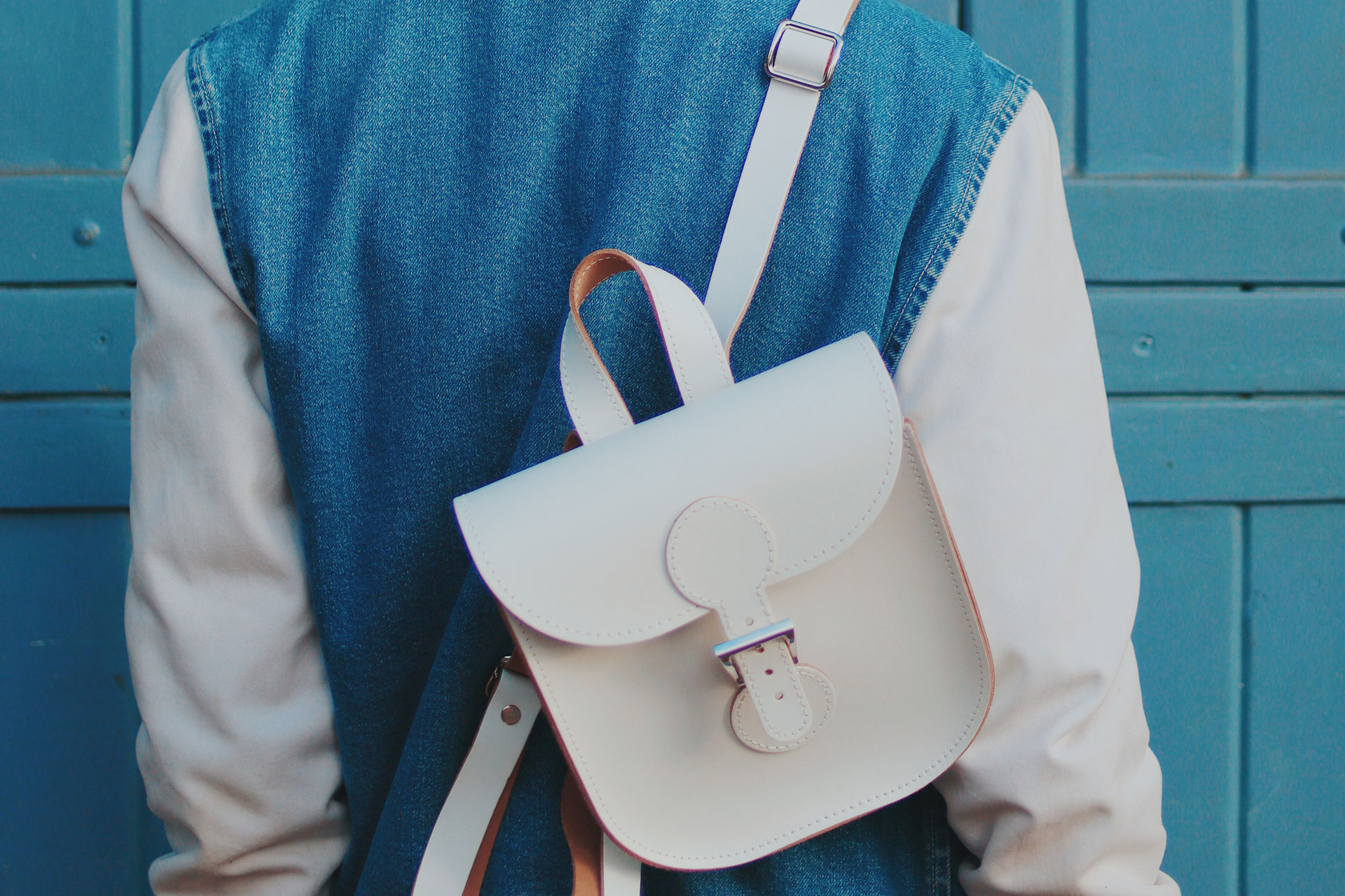 BACKPACK WHITE £95.00, £102.50 Personalised