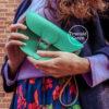 Mini Milkman Clutch Bag Emerald Green