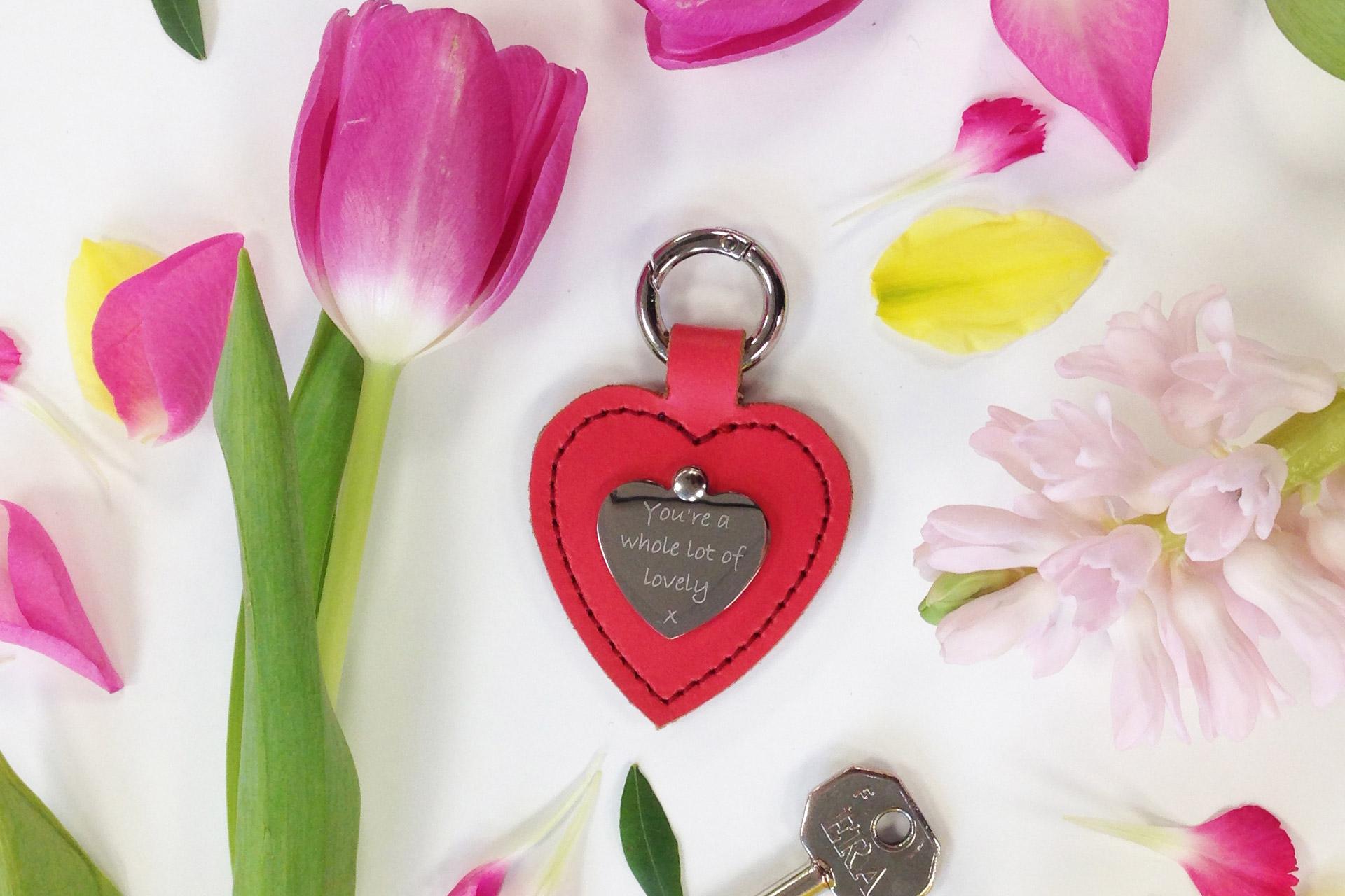 PERSONALISED HEART KEYRING £20.00