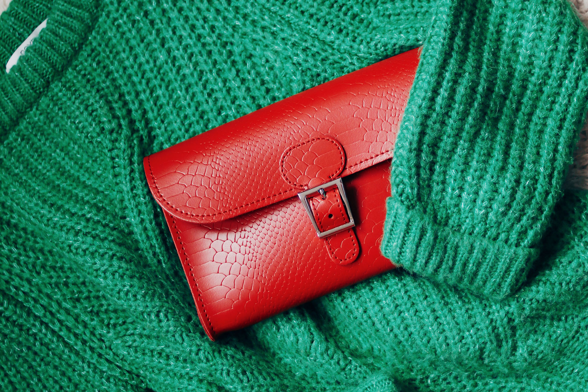 BRIT-LUXE CLUTCH BAG VINTAGE RED £55.00, £62.50 Personalised